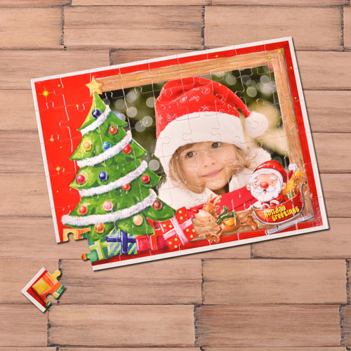 Personalized Christmas Tree 12X16.5 Photo Puzzle