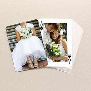 Personalized Wedding Poker Size Classic Custom 2 Sides Photo Playing Cards