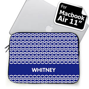 Custom Name Blue Chain MacBook Air 11 Sleeve