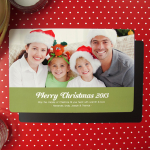 Create Merry Christmas  Green Fridge Magnets