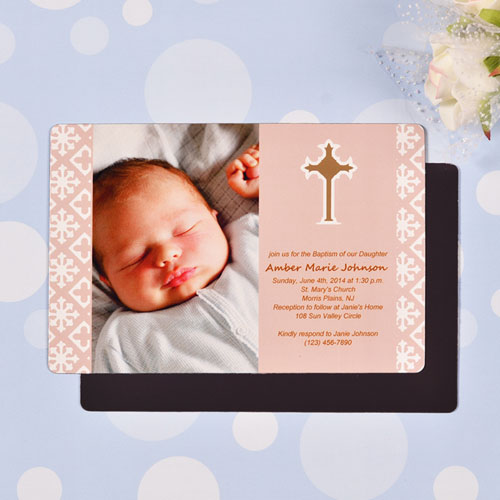 Blessed Baby Pink Baptism 4x6