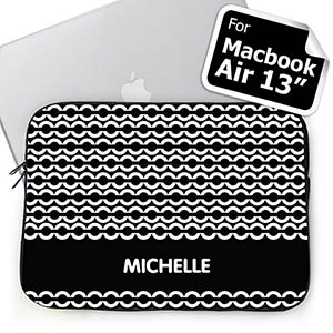 Custom Name Black Chain Macbook Air 13 Sleeve