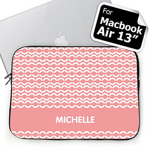 Custom Name Pink Chain Macbook Air 13 Sleeve