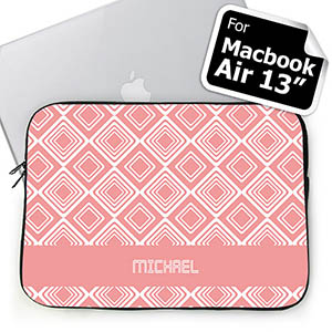 Personalized Name Pink Diamonds Macbook Air 13 Sleeve