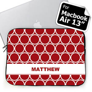 Custom Name Red Hoopla MacBook Air 13 Sleeve