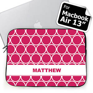 Custom Name Hot Pink Hoopla MacBook Air 13 Sleeve