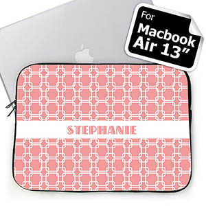 Custom Name Pink Links MacBook Air 13 Sleeve
