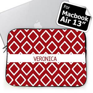 Custom Name Red Lkat Macbook Air 13 Sleeve