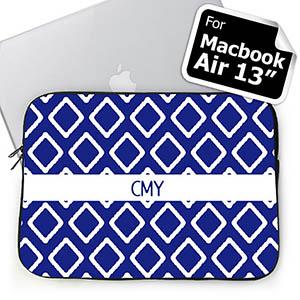 Custom Initials Blue Lkat Macbook Air 13 Sleeve
