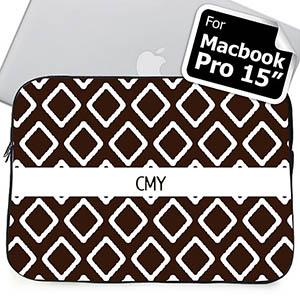 Custom Initials Chocolate Lkat Macbook Pro 15 Sleeve (2015)