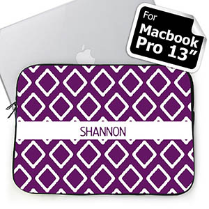 Custom Name Purple Lkat Macbook Pro 13 Sleeve (2015)