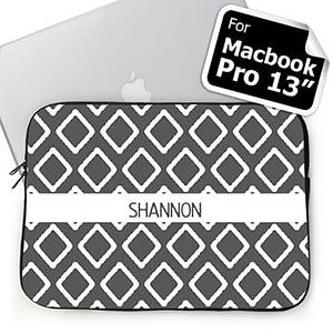 Custom Name Grey Lkat MacBook Pro 13 Sleeve