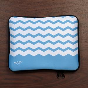 Personalized Name Sky Blue Chevron Ipad Sleeve