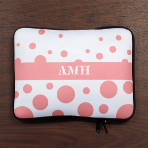Personalized Initials Pink Retro Circles Ipad Sleeve