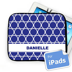 Custom Name Blue Hoopla Ipad Sleeve
