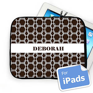 Custom Name Chocolate Links iPad Sleeve