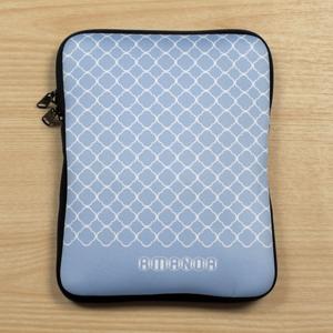 Personalized Name Blue Quatrefoil Ipad Sleeve