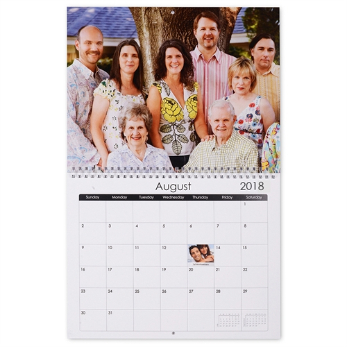 Personalized Photo Gallery, Large Wall Calendar (14