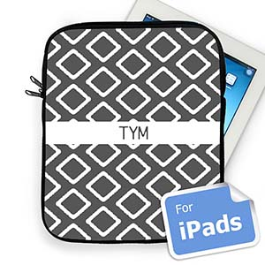 Custom Initials Grey Lkat Ipad Sleeve