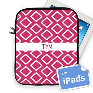 Custom Initials Hot Pink Lkat Ipad Sleeve