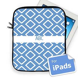 Custom Initials Blue Lkat Ipad Sleeve