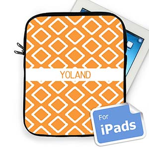 Custom Name Orange Lkat iPad Sleeve