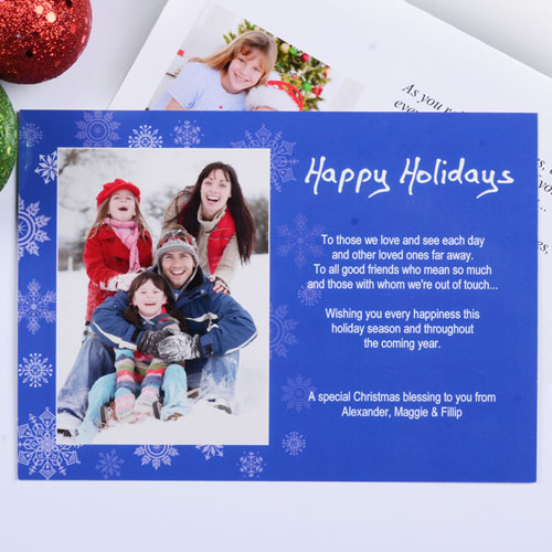 Holiday Expressions Portrait Photo, 5x7 Stationery Card
