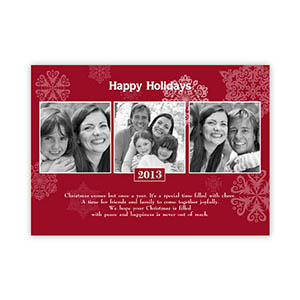 Create My Own Snowing Happiness Three Collage Invitation Cards
