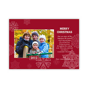 Create My Own Snowing Happiness Landscape Photo Invitation Cards