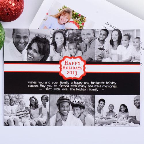 Create My Own Black Placed Moments Six Collage Invitation Cards