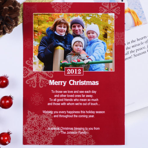 Create My Own Snowing Happiness Portrait Invitation Cards