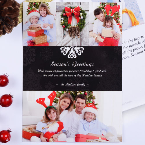 Create My Own Always Festive Portrait Invitation Cards