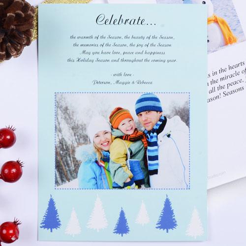 Create My Own Sweet Winter Portrait Invitation Cards