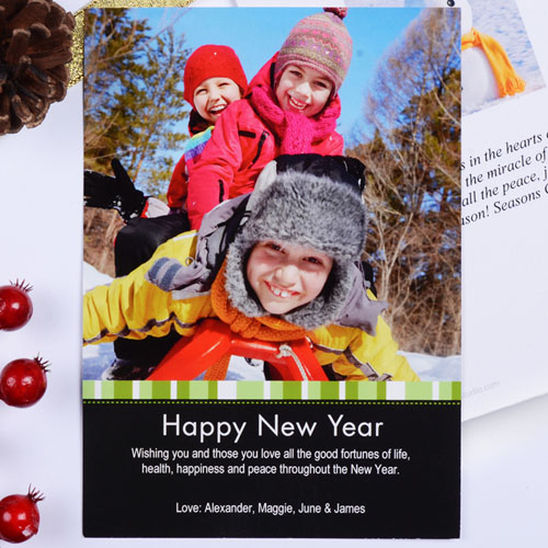 Create My Own Green Merry Miracle Portrait Invitation Cards