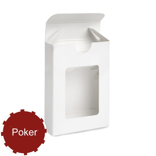 54 Poker Size Playing Cards Window Tuck Box