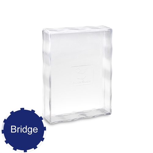 54 Bridge Size Playing Cards Clear Plastic Case