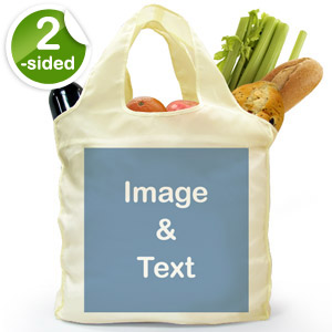 Custom 2 Sides Reusable Shopping Bag, Full Square Image