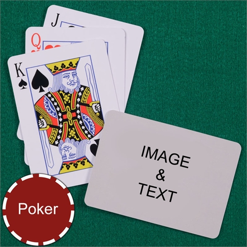 Personalized Poker Standard Index Landscape Photo Playing Cards