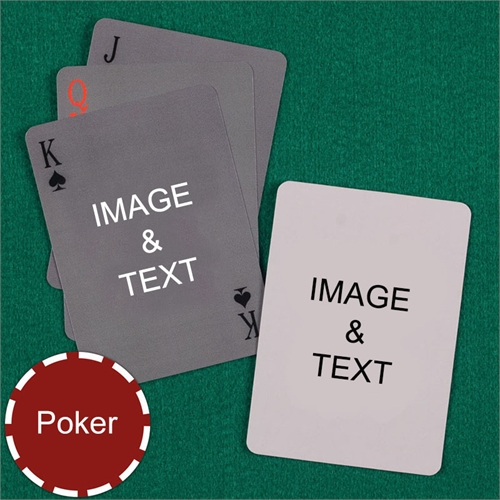 Personalized Poker Simple Custom 2 Side Playing Cards