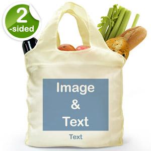 Custom 2 Sides Folded Shopper Bag, Landscape Image