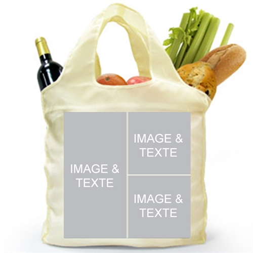 Custom 2 Sides 3 Collage Folded Shopper Bag, Contemporary