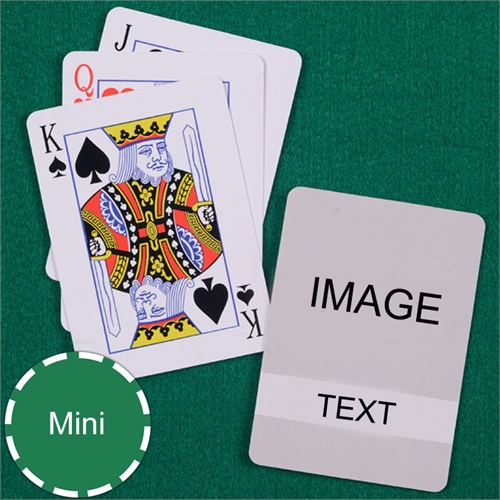 Mini Size Playing Cards Classic Transparent Standard Index
