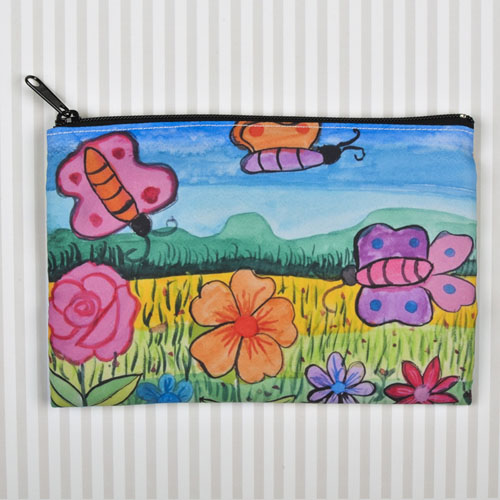 Kids Drawing Personalized Cosmetic Bag 6X9