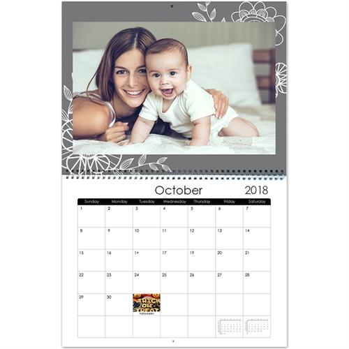 Personalized Floral Farm, 11X14 Wall Calendar