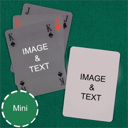 Mini Size Playing Cards Simple Bridge Style Custom 2 Sides