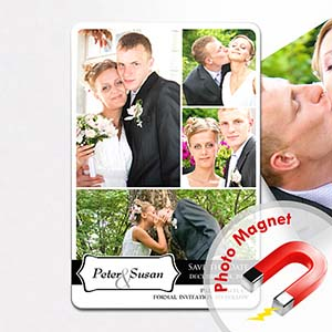 4x6 Large My Plus One Collage Save The Date Magnet
