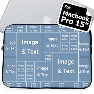 Personalized Facebook Thirty One Collage Macbook Pro 15 Sleeve (2015)