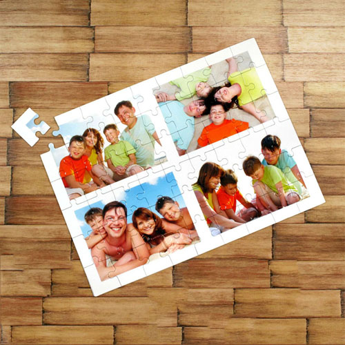 Collage personalized jigsaw puzzles