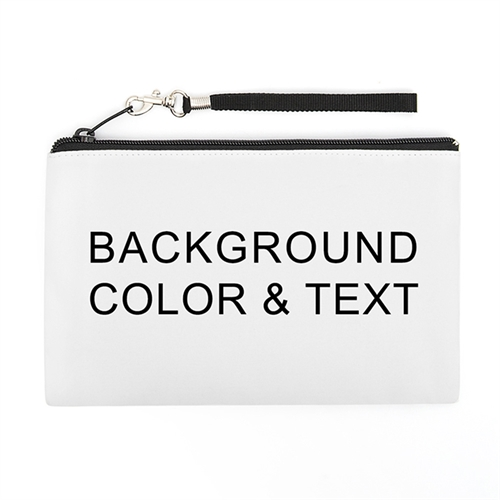 Personalized Background Color & Text (2 Side Different Image) Wristlet Bag (5x8)