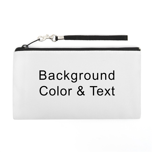Personalized Background Color & Text 5.5X10 (2 Side Same Image) Clutch Bag (5.5X10 Inch)